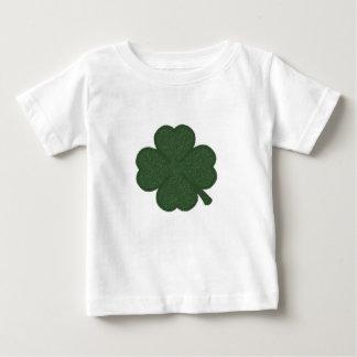shamrock green white crosshatch t shirt