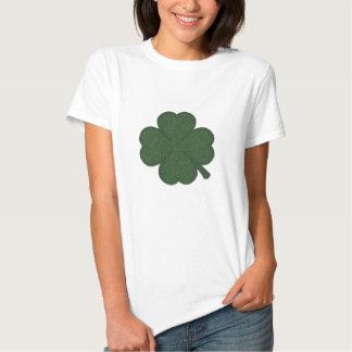 shamrock green white crosshatch tshirts