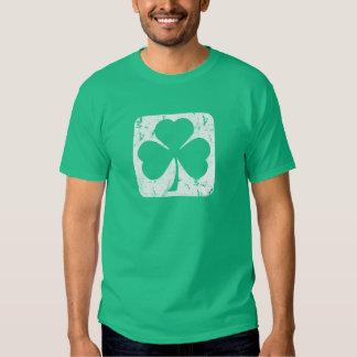 Shamrock Grunge Tee Shirts