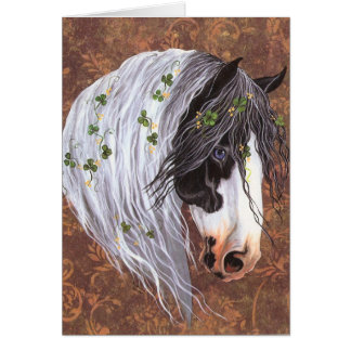 Shamrock Gypsy Horse Card