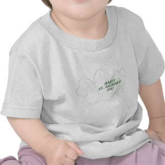 Shamrock Happy St. Patrick's Day Baby Shirt