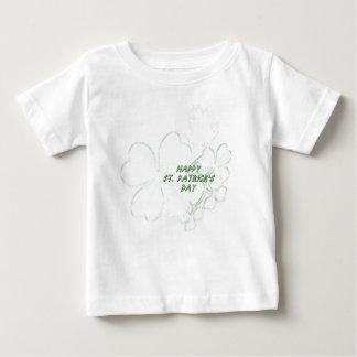 Shamrock Happy St. Patrick's Day Baby Shirt