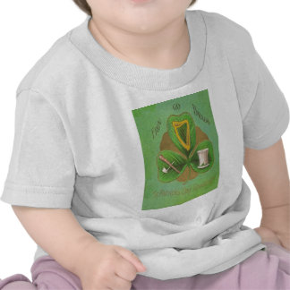 Shamrock Harp of Erin Shillelagh St Patricks Day T-shirts