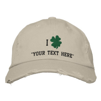 Shamrock Hat, Create Your Own Embroidered Hat