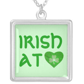 Shamrock Heart 'Irish at Heart' necklace green