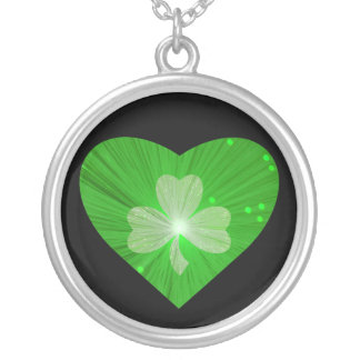 Shamrock Heart necklace black