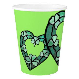 Shamrock Heart Paper Cup