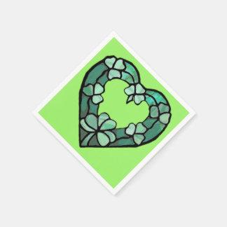 Shamrock Heart Paper Napkin