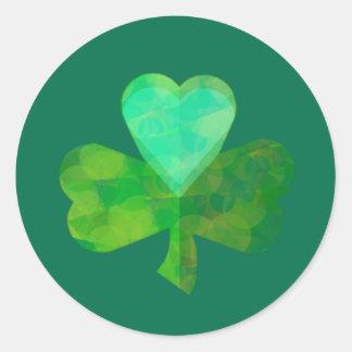 Shamrock Heart Stickers