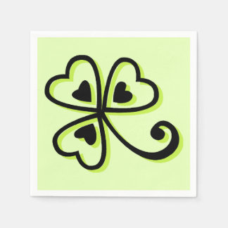 Shamrock Hearts Disposable Serviette
