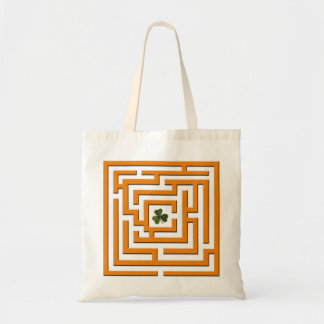 Shamrock in Orange Labyrinth Challenge Tote Bag