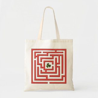 Shamrock in Red Labyrinth Challenge Tote Bag