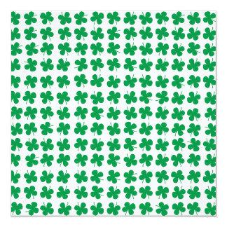 Shamrock 5.25x5.25 Square Paper Invitation Card