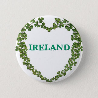 Shamrock Ireland Heart Pin