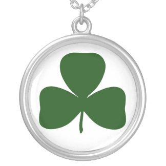 Shamrock, Ireland Irish Clover, St Patricks Day Silver Plated Necklace