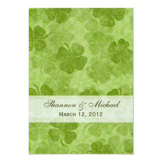 Shamrock Irish Wedding Invitation