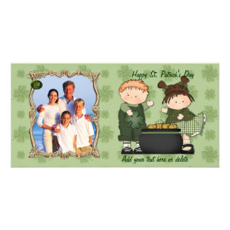 Shamrock Kids - Customize Photo Personalised Photo Card