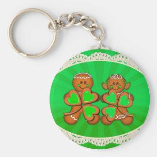 SHAMROCK KIDS & LIGHT RAYS by SHARON SHARPE Basic Round Button Key Ring