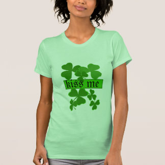 Shamrock Kiss Me Personalized T-Shirt