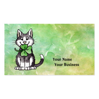 Shamrock Kitty Double-Sided Standard Business Cards (Pack Of 100)