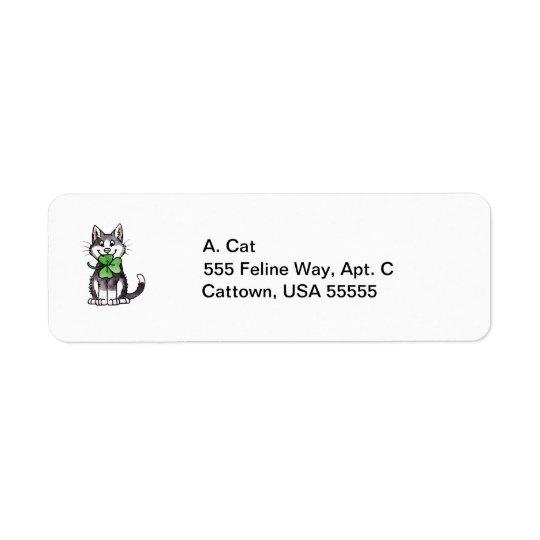 Shamrock Kitty Return Address Label