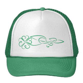 Shamrock knot mesh hats