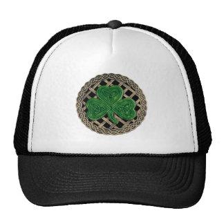 Shamrock, Lattice And Celtic Knots On Black Hat