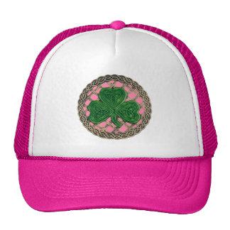 Shamrock, Lattice And Celtic Knots On Pink Hat