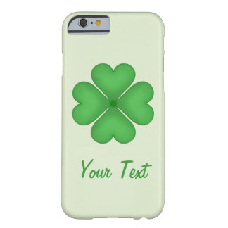 Shamrock leaf Clover Hearts pattern Customizable Barely There iPhone 6 Case