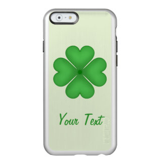Shamrock leaf Clover Hearts pattern Customizable Incipio Feather® Shine iPhone 6 Case