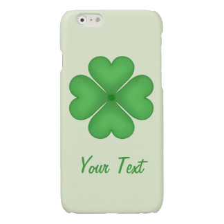 Shamrock leaf Clover Hearts pattern Customizable iPhone 6 Plus Case