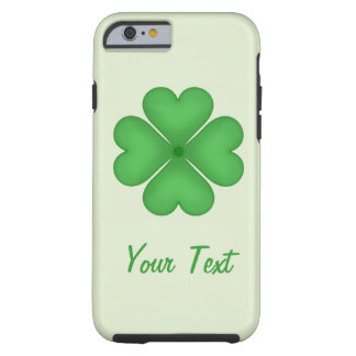 Shamrock leaf Clover Hearts pattern Customizable Tough iPhone 6 Case