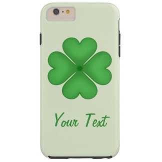 Shamrock leaf Clover Hearts pattern Customizable Tough iPhone 6 Plus Case