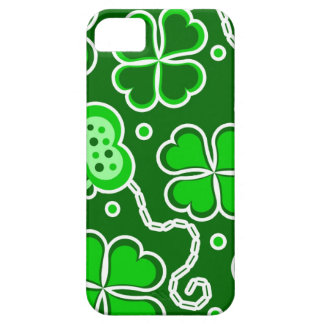 Shamrock Lucky Four Leaf Clover & Butterflies Barely There iPhone 5 Case