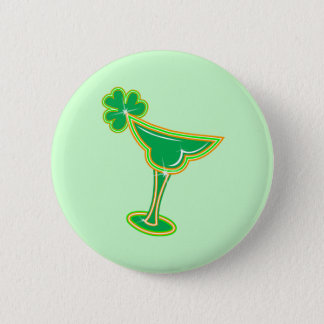 Shamrock Margarita 6 Cm Round Badge