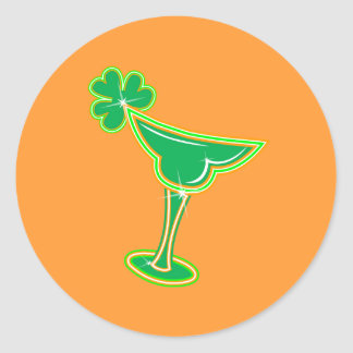Shamrock Margarita Classic Round Sticker