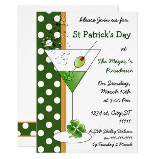 Shamrock martini St Patricks Day party Invitation
