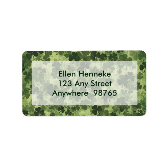 Shamrock Meadow 1 Address Label