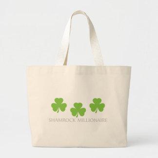 shamrock millionaire jumbo tote bag
