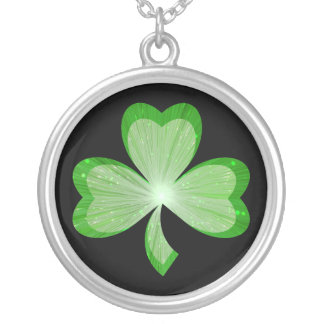 Shamrock necklace black