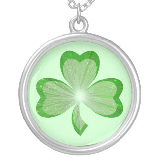 Shamrock necklace green
