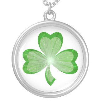 Shamrock necklace white