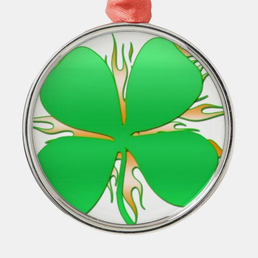 shamrock on fire christmas ornaments