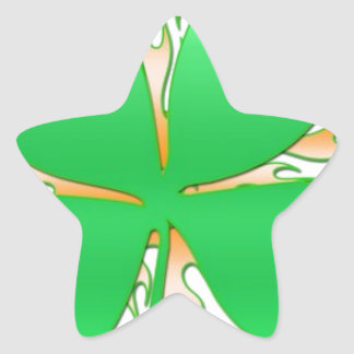 shamrock on fire star sticker