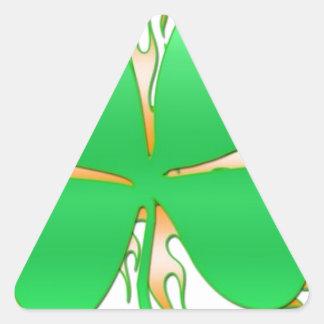 shamrock on fire triangle sticker