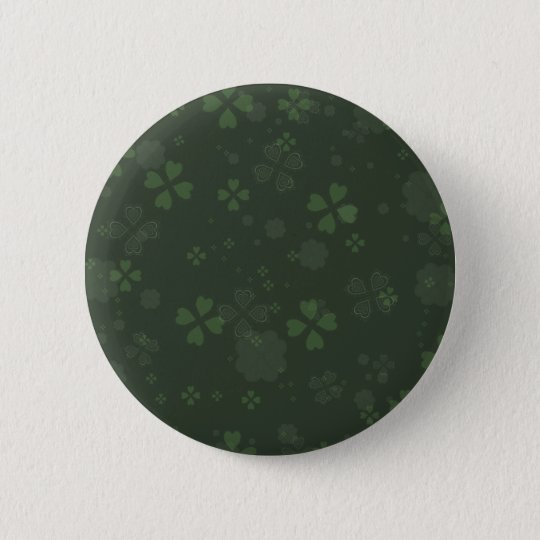Shamrock Paper 6 Cm Round Badge