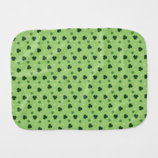 Shamrock Pattern Baby Burp Cloth