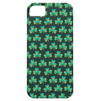 Shamrock Pattern Black iPhone 5/5S Barely There iPhone 5 Cover