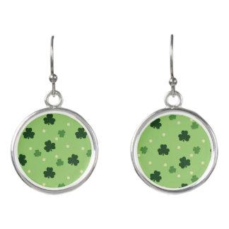 Shamrock Pattern Drop Earrings