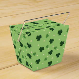 Shamrock Pattern Favor Box